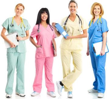 gourp of ladies medical staff