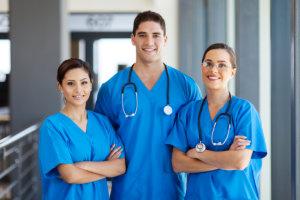 three medical staff